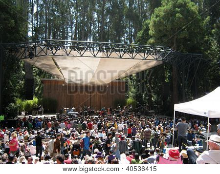 Band Rogue Wave Preforms On Stage During The Opening Act To A Large Crowd