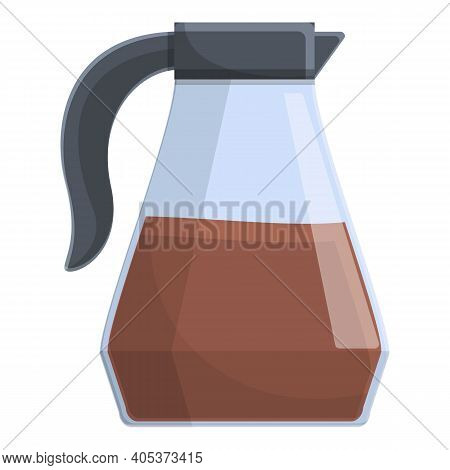 Coffee Pot Airline Icon. Cartoon Of Coffee Pot Airline Vector Icon For Web Design Isolated On White