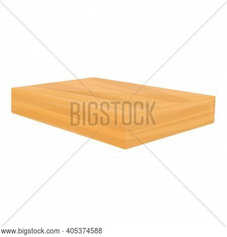 Clean Tree Plank Icon. Cartoon Of Clean Tree Plank Vector Icon For Web Design Isolated On White Back