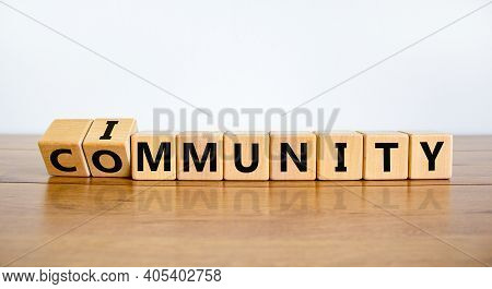 Community Immunity Symbol. Turned Cubes And Changed The Word 'community' To 'immunity'. Beautiful Wh