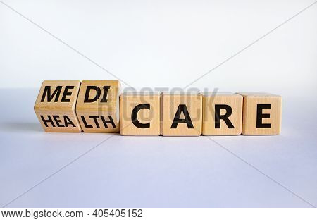 Medicare Or Healthcare Symbol. Turned Cubes, Changed The Word 'healthcare' To 'medicare'. Beautiful