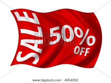 Sale 50% Off Flag