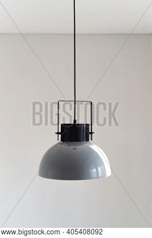Modern Gray Loft Chandelier. Loft Style Incandescent Lamp.