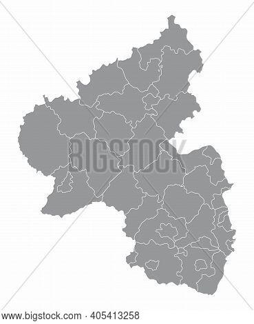 Rhineland-palatinate Districts Map