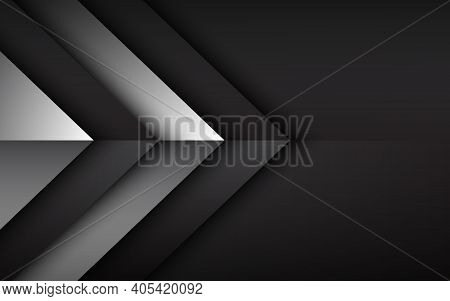 Black And White Overlayed Arrows. Abstract Modern Vector Background With Place For Your Text. Materi