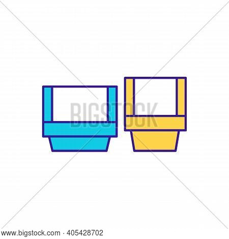 Storehouse Boxes Rgb Color Icon. Parcel Shipment. Logistics And Shipment. Merchandise Storage. Wareh