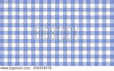 White Blue Vintage Checkered Background. Space For Graphic Design. Checkered Texture. Classic Checke