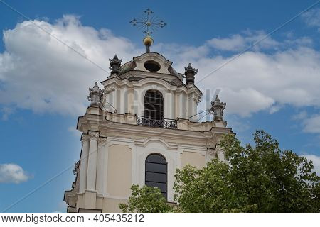 Belfry Of The Church Of St. Johns In Vilnius, Lithuania