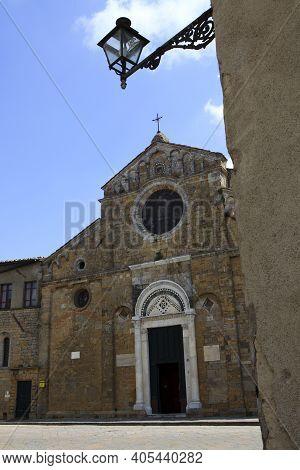 Volterra (si), Italy - April 25, 2017: The Church Santa Maria Assunta ,volterra, Tuscany, Italy