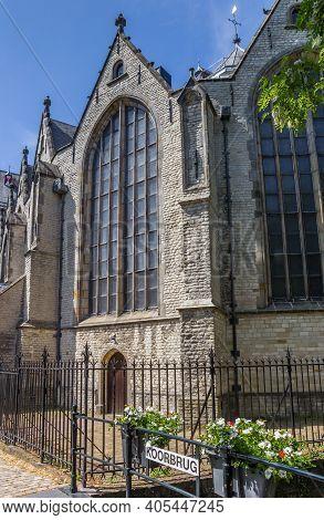 Koorbrug Bridge In Front Of The Sint Jan Church In Gouda, Netherlands