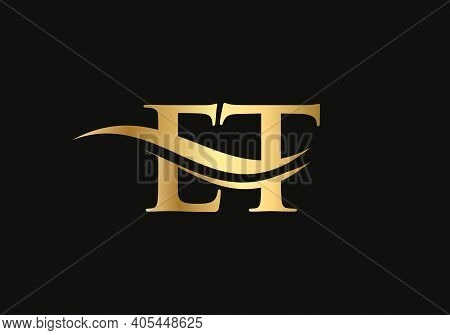 Creative Et Letter With Luxury Concept. Modern Et Logo Design For Business And Company Identity.