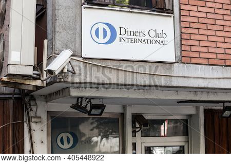 Belgrade, Serbia - June 8, 2019: Diners Club International Logo In Front Of Their Office For Serbia.
