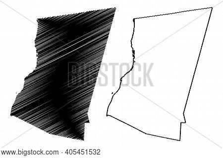 Columbia County, New York State (u.s. County, United States Of America, Usa, U.s., Us) Map Vector Il