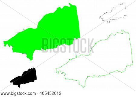 Pleasants County, State Of West Virginia (u.s. County, United States Of America, Usa, U.s., Us) Map