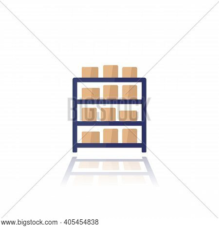 Inventory Icon On White, Flat Vector Art