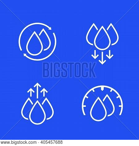 Humidity And Water Icons For Web, Vector