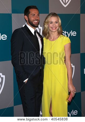 LOS ANGELES - JAN 15:  ZACHARY LEVI & YVONNE STRAHOVSKI arriving to Golden Globes 2012 After Party: WB / In Style  on January 15, 2012 in Beverly Hills, CA