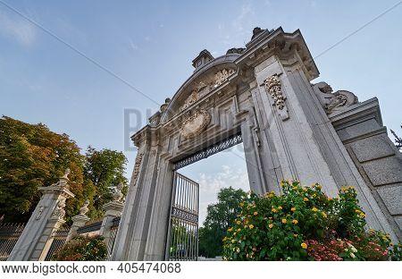 Gate Of Felipe Iv In Buen Retiro Park, Madrid