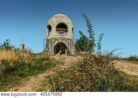 Lookout Tower Called Ruzenka On The Top Of Pastevni Hill, Czech Republic, Close To Hrensko And Bohem