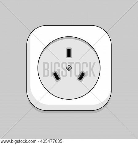 Socket - Vector Illustration. Socket For An Electric Stove.
