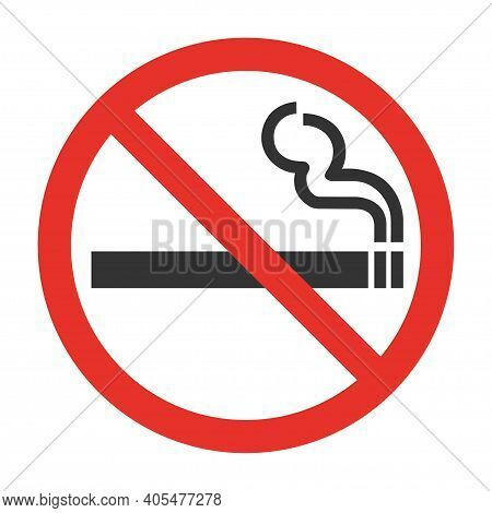 Green Symbol Of Smoking Zone. Icon Pictogram Granted Smoke. Smoking Allowed Sign. Vector Illustratio