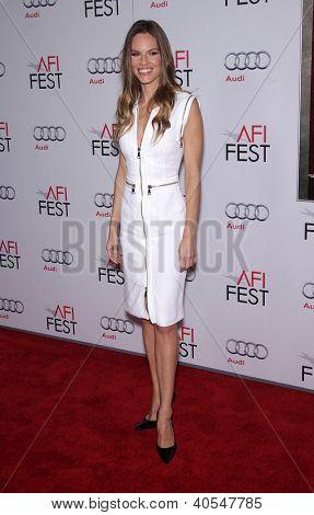 """LOS ANGELES - NOV 03:  Hilary Swank arriving to """"J. Edgar"""" Los Angeles Premiere  on November 03, 2011 in Hollywood, CA"""