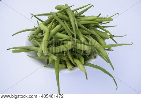 Rat Tail Radish Pods, A Green Winter Seasonal Vegetable Grown Only In Winters Harvested And Put In A