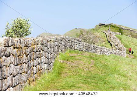 Hadrian's wall, Northumberland, England poster