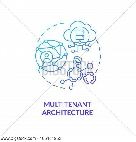 Multitenant Architecture Concept Icon. Saas Advantage Idea Thin Line Illustration. Serving Multiple