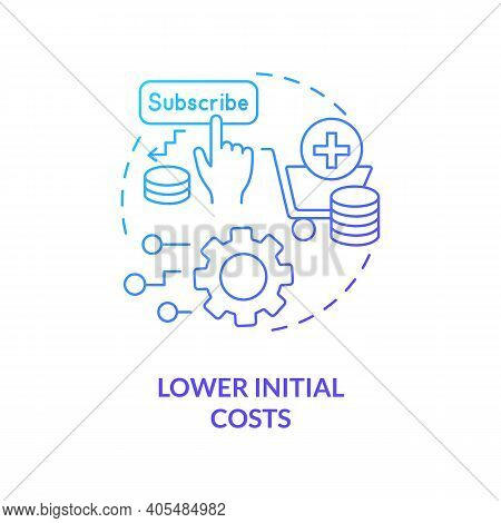 Lower Initial Costs Concept Icon. Saas Advantage Idea Thin Line Illustration. Pricing Strategy. Smal