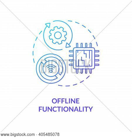 Offline Functionality Concept Icon. Saas Argument Idea Thin Line Illustration. Sync Data Between Mul