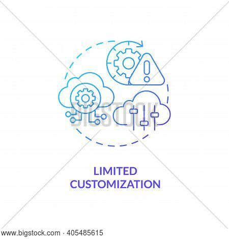 Limited Customization Concept Icon. Saas Challenge Idea Thin Line Illustration. Developing Software