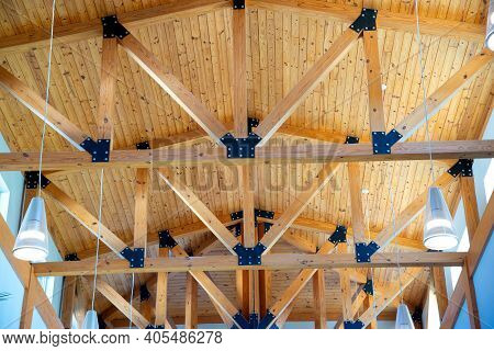 Indoor Rafters Frame Ceiling Inside Decor Modern