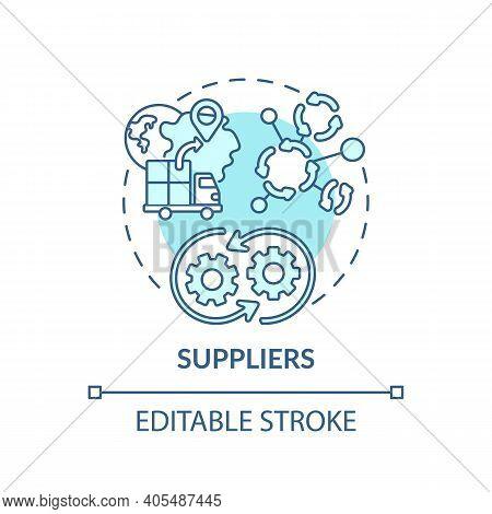 Suppliers Concept Icon. Co-creation Participant Idea Thin Line Illustration. Distributor, Vendor. Su