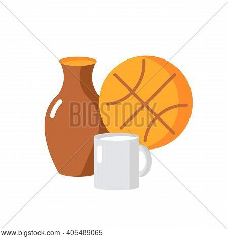 Miscellaneous Vector Flat Color Icon. Supermarket Items. Grocery Shop Category. Convenience Store Se