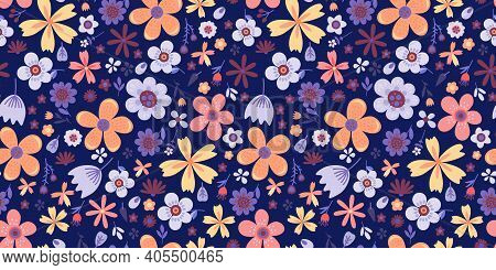 Amazing Floral Pattern With Flowers. Bright Seamless Pattern. 8 March.