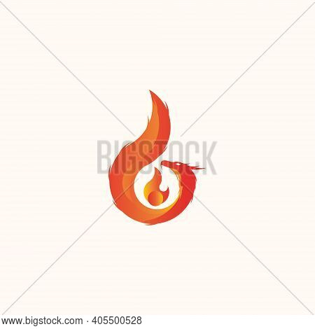 Dragon Vector Illustration With Gradation Color For Icon, Symbol Or Logo. Dragon Logo Template. Grea