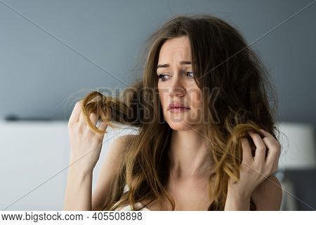 Long Messy Hair Tangle Problem And Damage