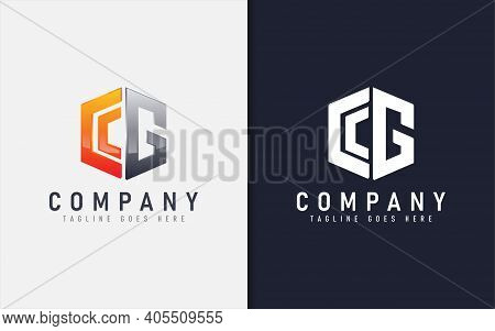 Abstract C And G Geometric Modern Logo Design. Usable For Business, Community, Foundation, Tech, Ser