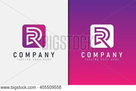 Abstract R And D Geometric Modern Logo Design. Usable For Business, Community, Foundation, Tech, Ser