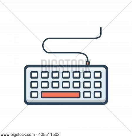 Color Illustration Icon For Keyboard Key Board Keypad