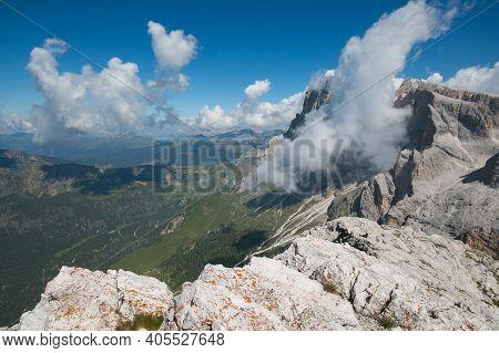 Summer View Of Cima Rosetta In The Dolomites Group Of Pale Di San Martino, Trentino Alto-adige, Ital