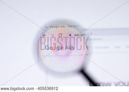 Saint Petersburg, Russia - 28 January 2021: Google Ads Website Page With Logo Close-up, Illustrative