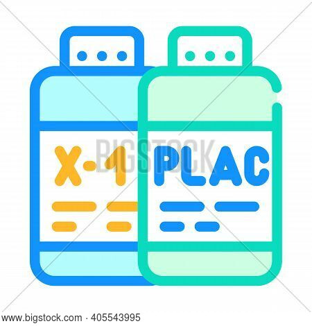 Test Samples Of Vaccine And Placebo Color Icon Vector Illustration