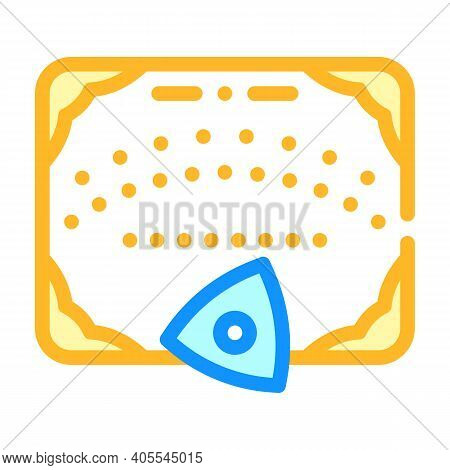 Ouija Board For Communicating With Spirits Color Icon Vector Illustration