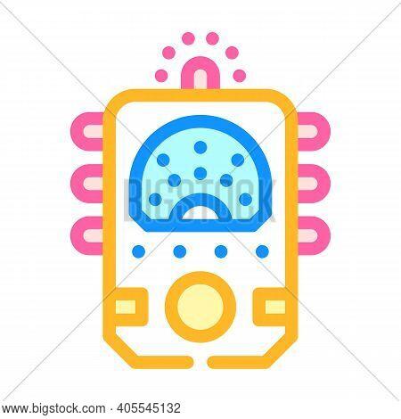 Ectoplasm Paranormal Detector Color Icon Vector Illustration
