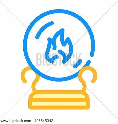 Sphere For Spiritism Color Icon Vector Illustration