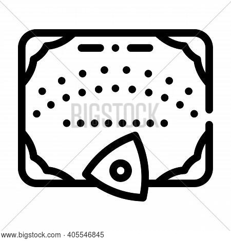 Ouija Board For Communicating With Spirits Line Icon Vector Illustration