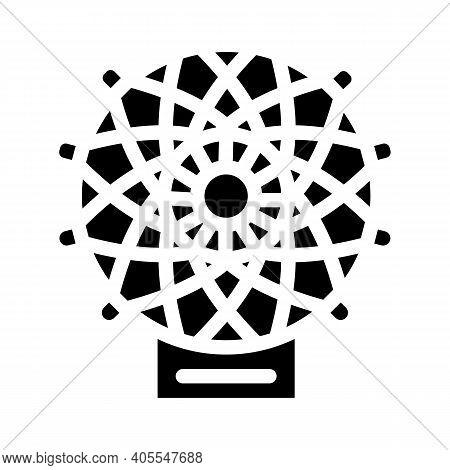 Carbon Fiber Weaving Loom Glyph Icon Vector Illustration