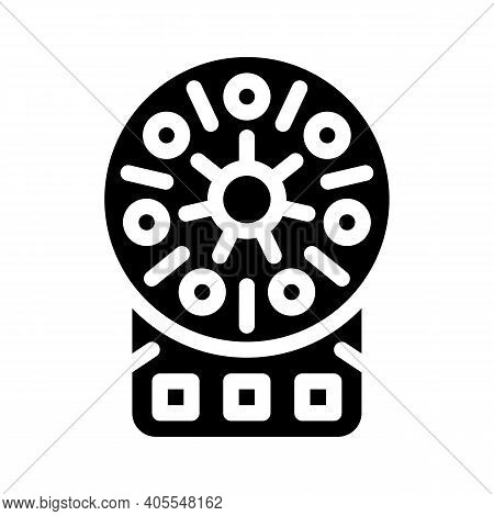 Centrifuge Laboratory Equipment Glyph Icon Vector Illustration